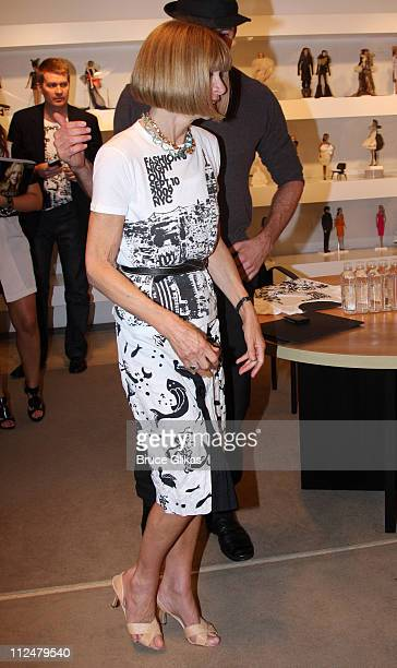 Anna Wintour visits Jeffrey New York during 'Fashion's Night Out' on September 10 2009 in New York City