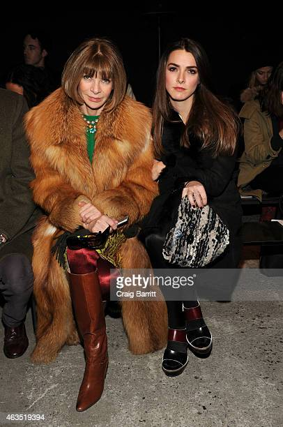 Anna Wintour with her daughter Bee Shaffer attend the Thakoon fashion show at SIR Stage37 on February 15 2015 in New York City