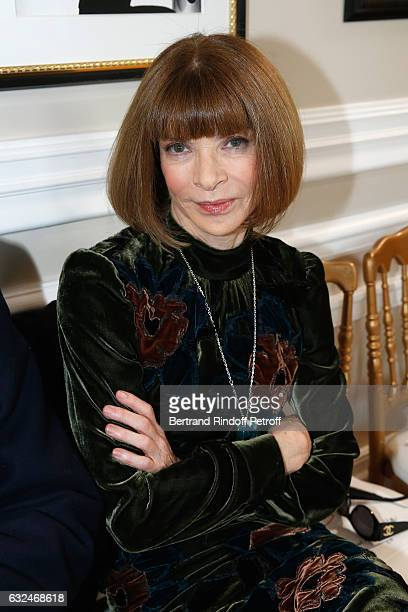 Anna Wintourattends the Schiaparelli Haute Couture Spring Summer 2017 show as part of Paris Fashion Week on January 23 2017 in Paris France