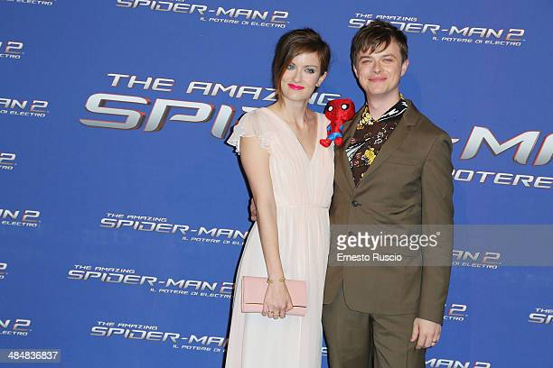 Anna Wood and Dane DeHaan attend the 'The Amazing SpiderMan 2 Rise Of Electro' premiere at The Space Moderno on April 14 2014 in Rome Italy