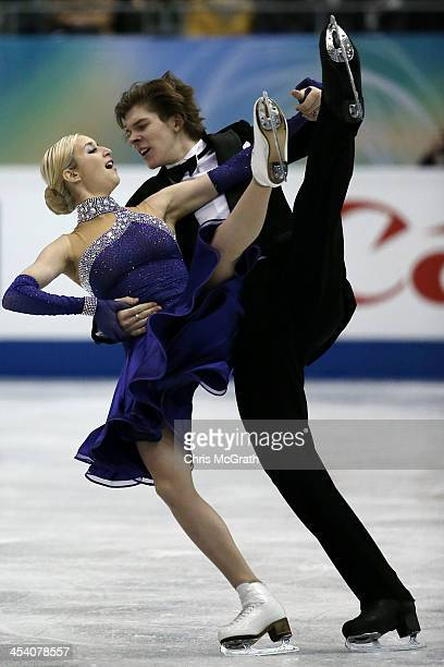 Anna Yanovskaya and Sergey Mozgov of Russia compete in the Junior Ice Dance Short Dance during day three of the ISU Grand Prix of Figure Skating...