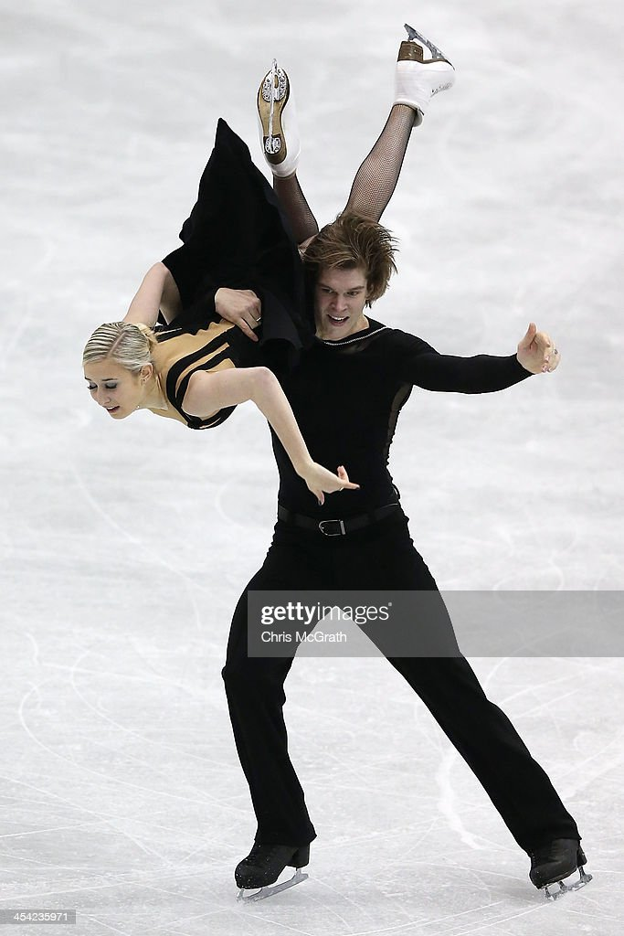 Anna Yanovskaya and Sergey Mozgov of Russia compete in the Junior Ice Dance Free Dance Final during day four of the ISU Grand Prix of Figure Skating Final 2013/2014 at Marine Messe Fukuoka on December 8, 2013 in Fukuoka, Japan.
