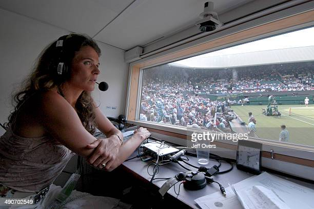 Annabel Croft a member of the commentary team at Wimbledon for Radio 5 Live