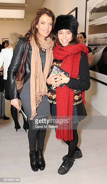 Annabel Croft and Amber Croft attend the private view of ENCOUNTER the stunning wildlife photography of David Yarrow at Saatchi Gallery on November...