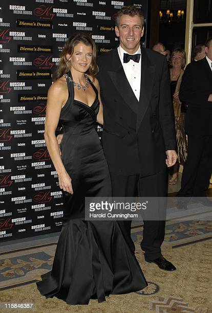 Annabel Croft and guest during Diema's Dream Charity Dinner in London Great Britain