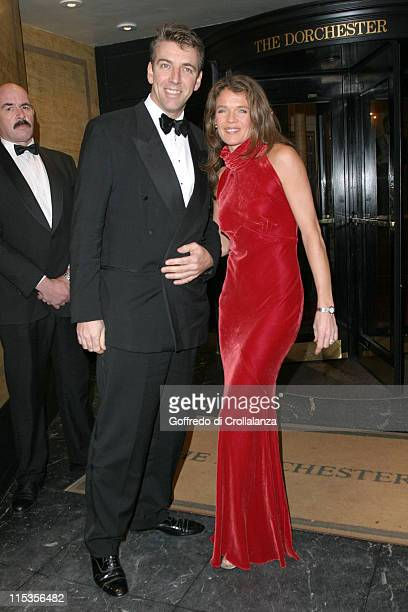 Annabel Croft and guest during The Rainbow Ball Arrivals at Dorchester Hotel Park Lane in London Great Britain