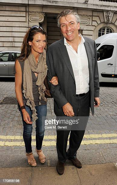 Annabel Croft and Mel Coleman attend the gala screening of 'Venus and Serena' at The Curzon Mayfair on June 19 2013 in London England