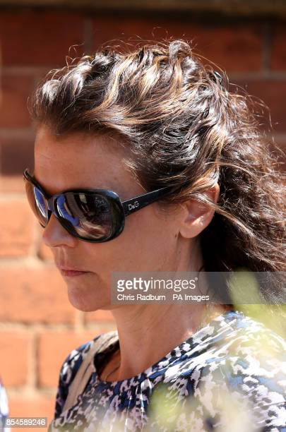 Annabel Croft arrives at St Johns Church in Ipswich Suffolk for the funeral service of former tennis player Elena Baltacha