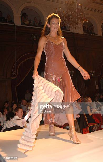 Annabel Croft during SPARKS October 2005 Fashion Show at Porchester Hall in London Great Britain