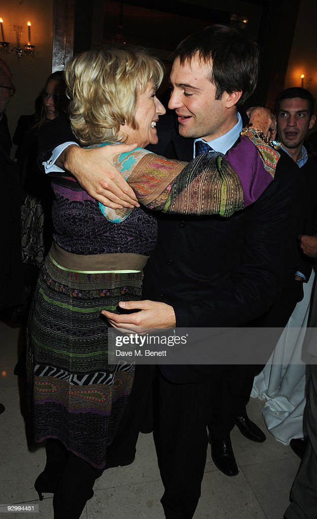 Annabel Elliot and Ben Goldsmith attend the book launch party for Lady Annabel Goldsmith's new book 'No Invitation Required' at Claridge's on...