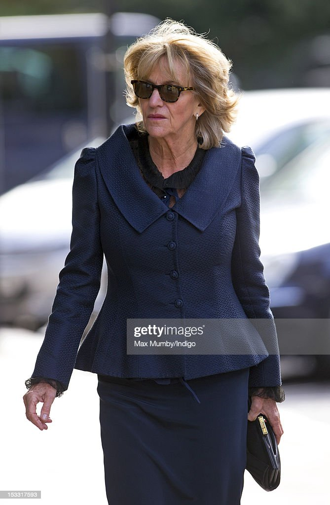 Annabel Elliot attends a memorial service for Alistair Vane-Tempest-Stewart, 9th Marquess of Londonderry at St Paul's Church, Knightsbridge on October 3, 2012 in London, England.