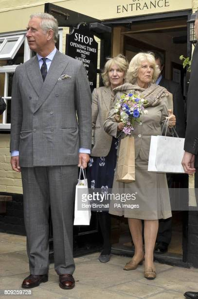 Annabel Elliot the sister of the Duchess of Cornwall follows the royal couple as they meet and greet people at the White Horse pub in Blandford Forum...