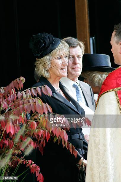 Annabel Elliott at St Paul's Church in Knightsbridge for a memorial service for her father Major Bruce Shand on September 11 2006 in London England