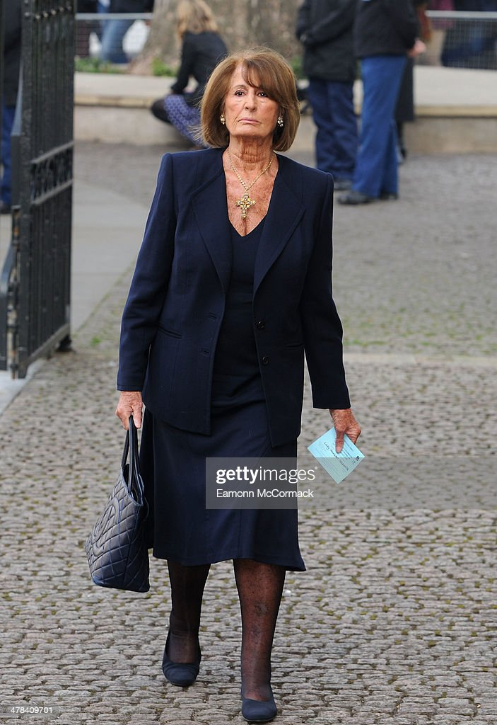 Annabel Goldsmith attends a memorial service for Sir David Frost at Westminster Abbey on March 13, 2014 in London, England.