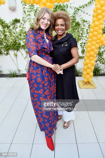 Annabel Jones and Denise Burse attend the BBC America BAFTA Los Angeles TV Tea Party 2017 at The Beverly Hilton Hotel on September 16 2017 in Beverly...