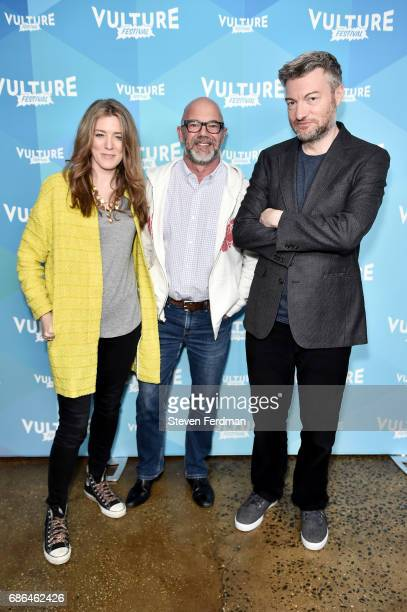 Annabel Jones Andrew Sullivan and Charlie Booker attend a screening of 'Black Mirror' during Vulture Festival at Milk Studios on May 21 2017 in New...