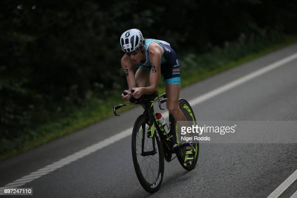 Annabel Luxford of Australia in action during the bike section of KMD IRONMAN 703 European Championship Elsinore on June 18 2017 in Helsingor Denmark