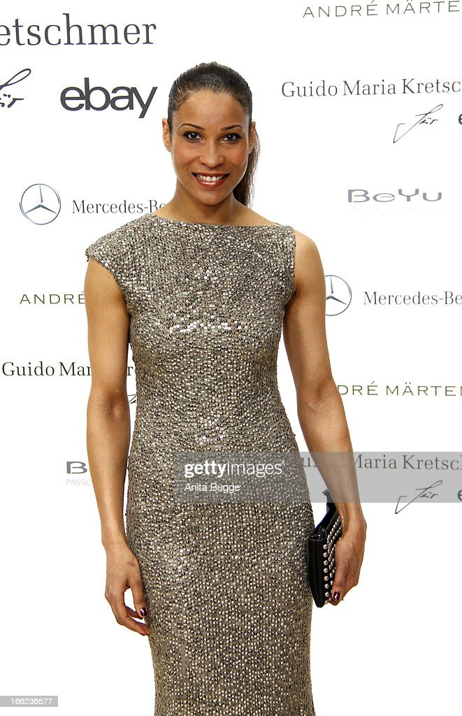 Annabel Mandeng attends the Guido Maria Kretschmer For eBay Collection Launch at Label 2 on April 10, 2013 in Berlin, Germany.
