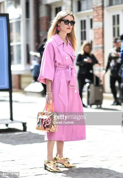 Annabel Rosendahl is seen outside the Tibi show during New York Fashion Week Women's S/S 2018 on September 9 2017 in New York City