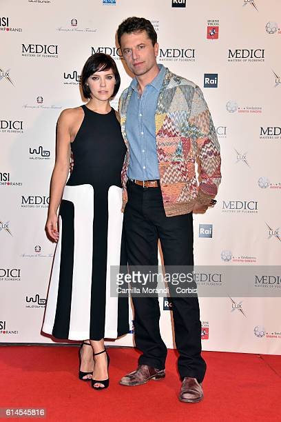 Annabel Scholey and Guido Caprino attend a photocall for 'I Medici' on October 14 2016 in Florence Italy