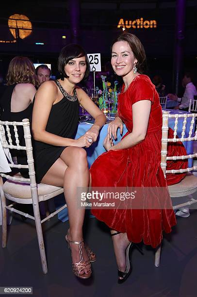 Annabel Scholey and Maimie McCoy attend the SeriousFun Children's Network London Gala 2016 at The Roundhouse on November 3 2016 in London England