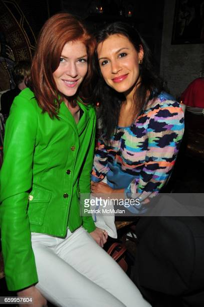 Annabel Vartanian and Tatiana Boncompagni attend RODIAL SKINCARE Celebration at La Esquina NYC on May 18 2009
