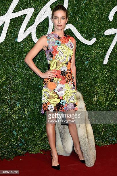 Annabel Wallis attends the British Fashion Awards at London Coliseum on December 1 2014 in London England