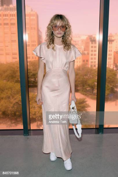 Annabella Barbara attends Zimmermann fashion show during New York Fashion Week The Shows at Spring Studios on September 11 2017 in New York City