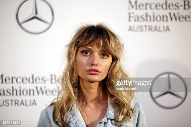 Annabella Barber arrives ahead of the MercedesBenz Fashion Week Australia 2017 Schedule Launch at Ovolo Hotel on March 29 2017 in Sydney Australia