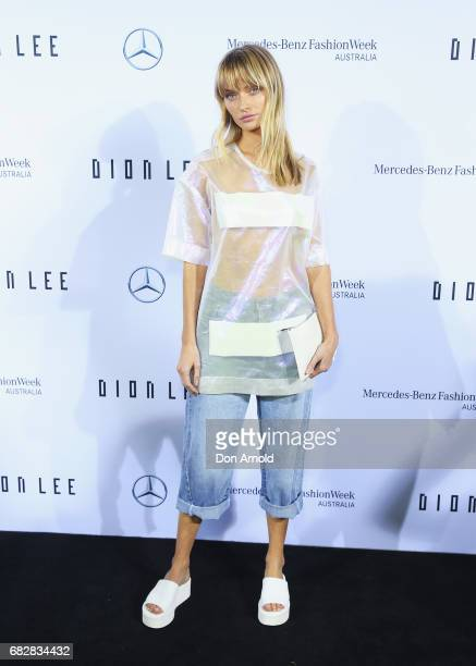Annabella Barber arrives ahead of the MercedesBenz Presents Dion Lee show at MercedesBenz Fashion Week Resort 18 Collections at the Sydney Opera...