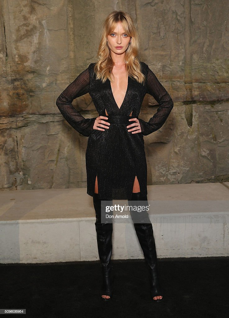 Annabella Barber arrives ahead of the Myer AW16 Fashion Launch at Barangaroo Reserve on February 11, 2016 in Sydney, Australia.
