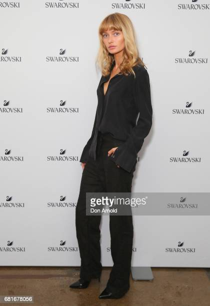 Annabella Barber arrives ahead of the Swarovski Urban Fantasy Collection Launch on May 11 2017 in Sydney Australia