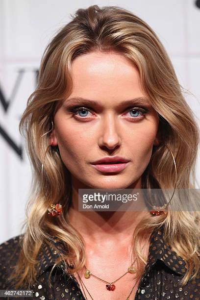 Annabella Barber arrives at the David Jones Autumn/Winter 2015 Collection Launch at David Jones Elizabeth Street Store on February 4 2015 in Sydney...