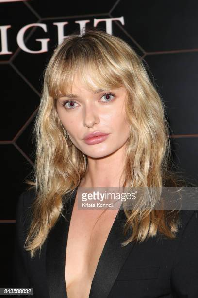 Annabella Barber attends Bulgari 'Goldea The Roman Night' Fragrance Launch Party at The 1 Rooftop on September 6 2017 in the Brooklyn borough of New...