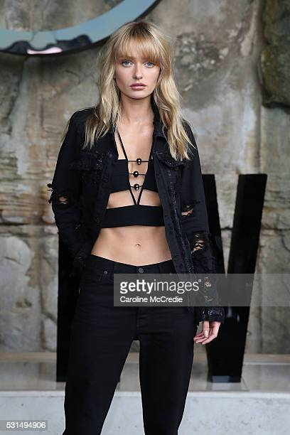 Annabella Barber attends the MercedesBenz Presents Maticevski show at MercedesBenz Fashion Week Resort 17 Collections at The Cutaway Barangaroo...
