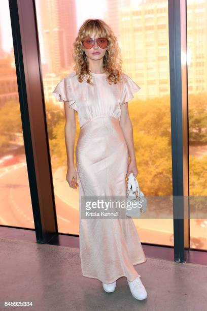 Annabella Barber poses at the Zimmermann show during New York Fashion week at Spring Studios on September 11 2017 in New York City