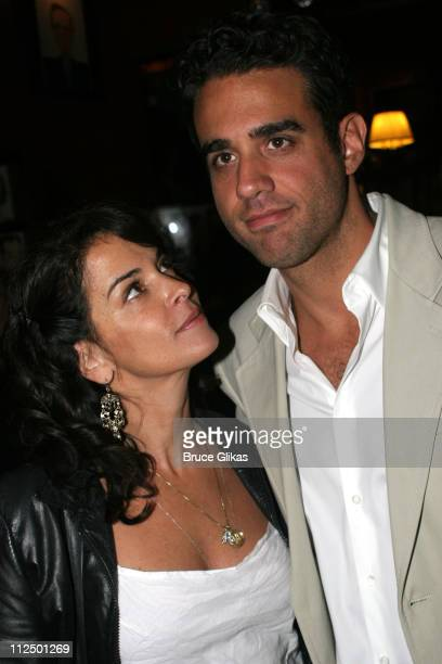 Annabella Sciorra and Bobby Cannavale during 'Glengarry Glen Ross' Broadway Opening Night Curtain Call and After Party at The Royale Theater and...