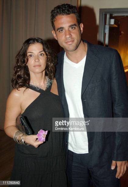 Annabella Sciorra and Bobby Cannavale during The New Group Spring Benefit 10 Years Off Broadway at Copacabana in New York City New York United States