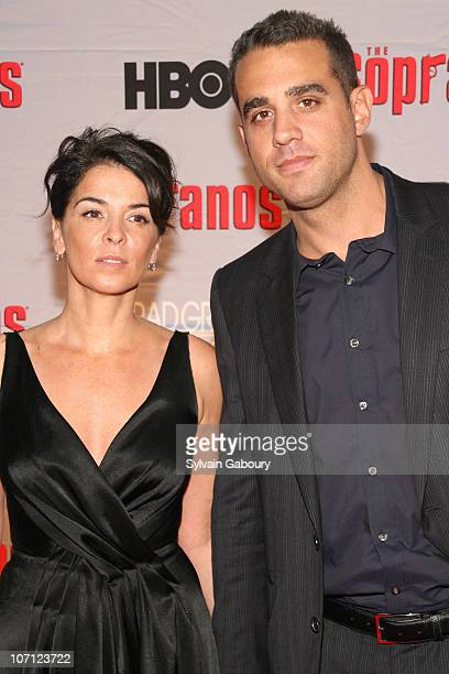 Annabella Sciorra and Bobby Cannavale during 'The Sopranos' Final Season World Premiere Arrivals at Radio City Music Hall in New York City New York...