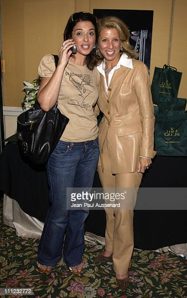 Annabella Sciorra designer Leslie Greene during HBO Golden Globes Luxury Lounge Produced By Mediaplacement at The Peninsula Hotel in Beverly Hills...