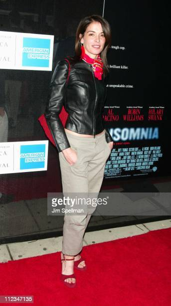 Annabella Sciorra during 2002 Tribeca Film Festival 'Insomnia' Premiere at Tribeca Performing Arts Center in New York City New York United States