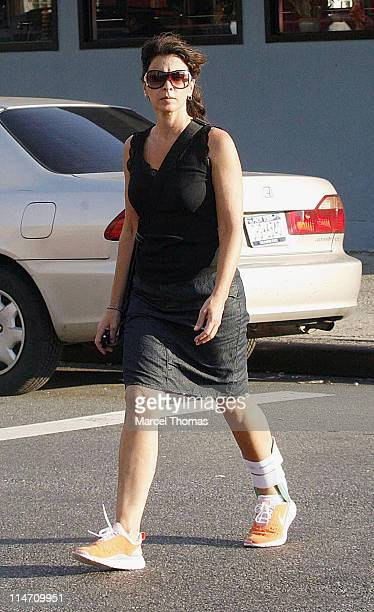 Annabella Sciorra during Annabella Sciorra Sighting in New York City August 23 2006 in New York City New York United States