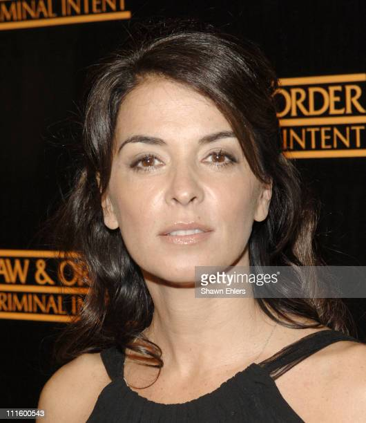 Annabella Sciorra during 'Law Order Criminal Intent' 100th Episode at The Lighthouse at Chelsea Piers in New York City New York United States