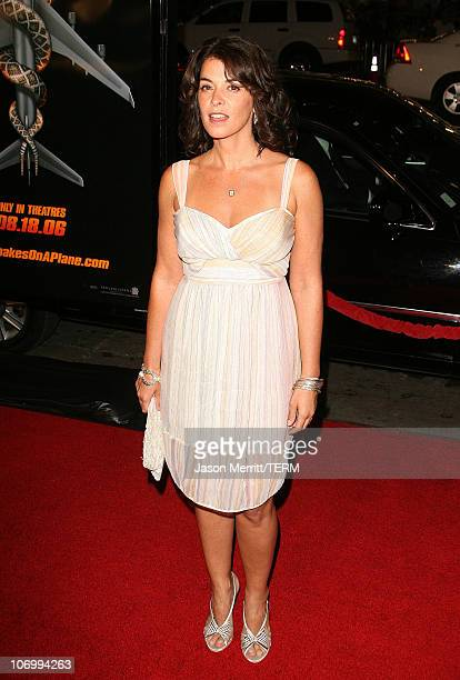 Annabella Sciorra during 'Snakes on a Plane' Los Angeles Premiere Arrivals at GraumanIs Chinese Theatre in Hollywood California United States