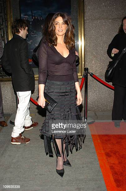 Annabella Sciorra during The Sopranos Fifth Season Premiere at Radio City Music Hall in New York City New York United States