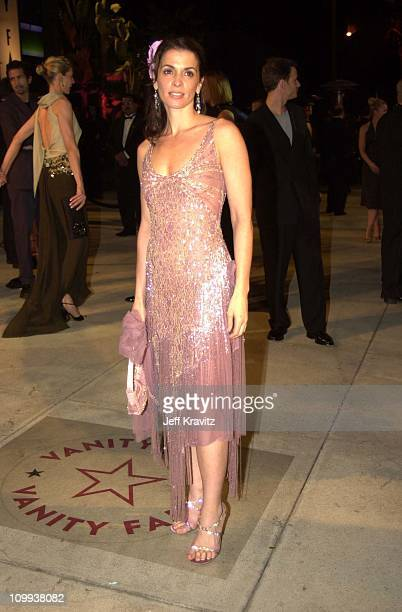 Annabella Sciorra during Vanity Fair postOscar party at Mortons in Los Angeles California United States