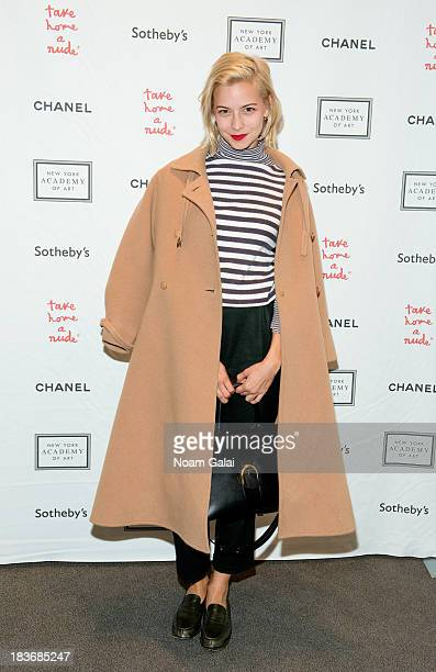 Annabelle Dexter Jones attends 2013 'Take Home A Nude' Benefit Art Auction And Party at Sotheby's on October 8 2013 in New York City
