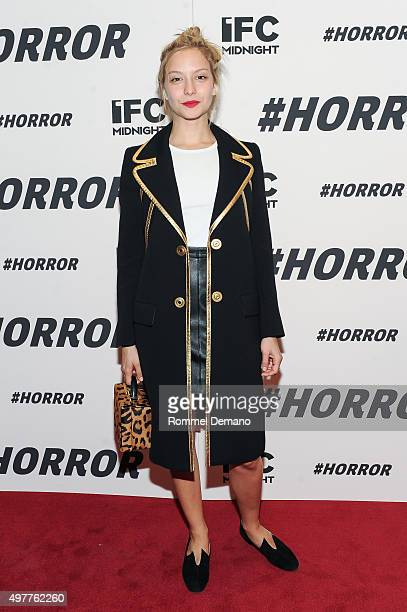 Annabelle Dexter Jones attends '#Horror' New York Premiere at MoMA Titus One on November 18 2015 in New York City