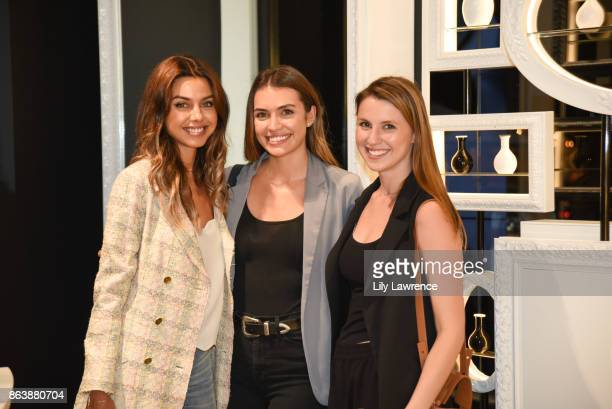 Annabelle Fleur Alyssa Fernandez and Charlotte Collie attend ELLE The Harmonist celebrate fragrance and feng shui on October 12 2017 in Los Angeles...