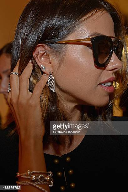 Annabelle Fleur poses at PANDORA Jewelry X Nanette Lepore at New York Fashion Week on September 15 2015 in New York City